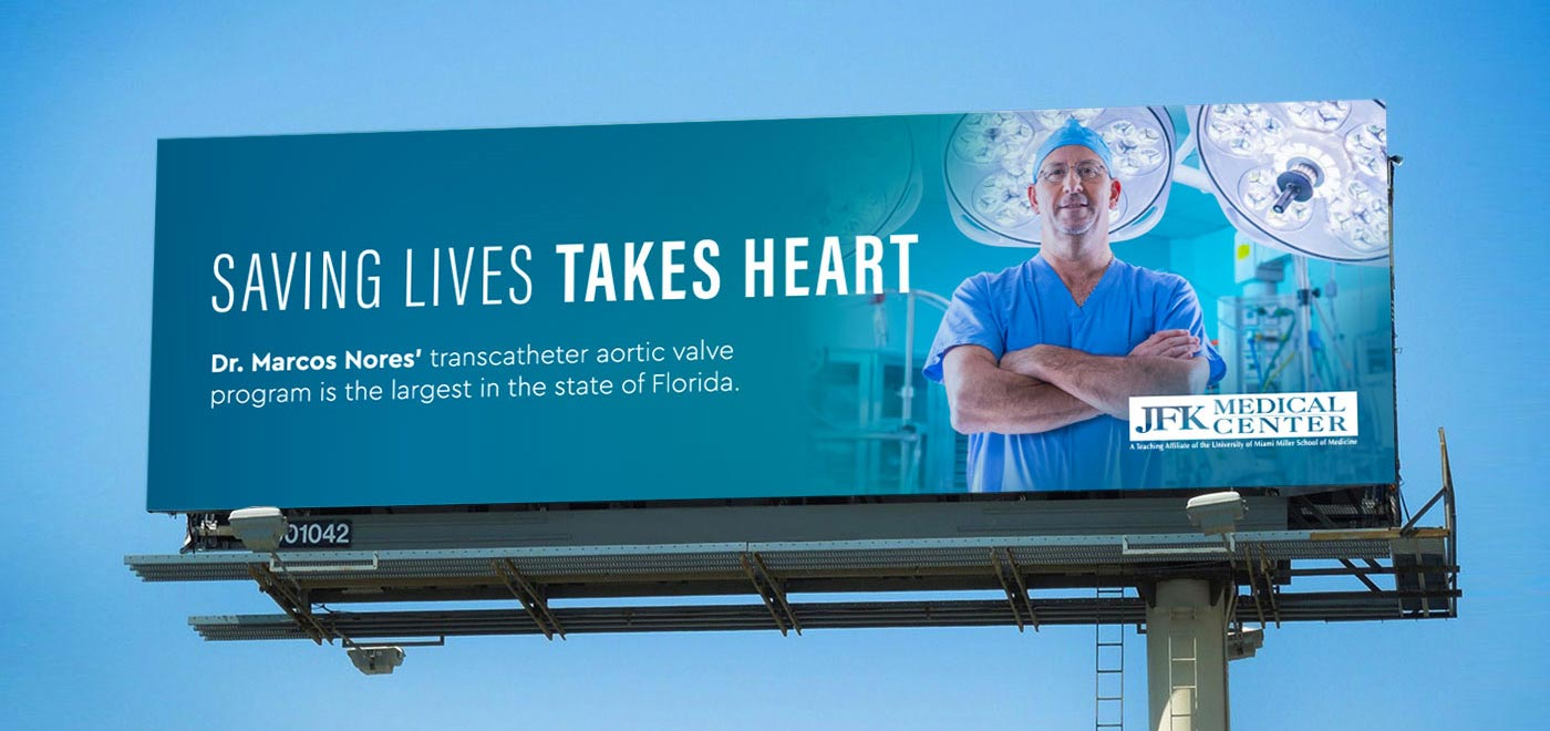 HCA Billboard -- Saving Lives Takes Heart