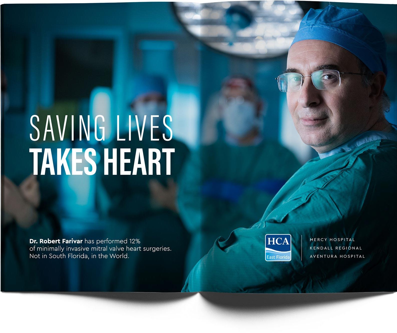 HCA East Florida magazine advertisement
