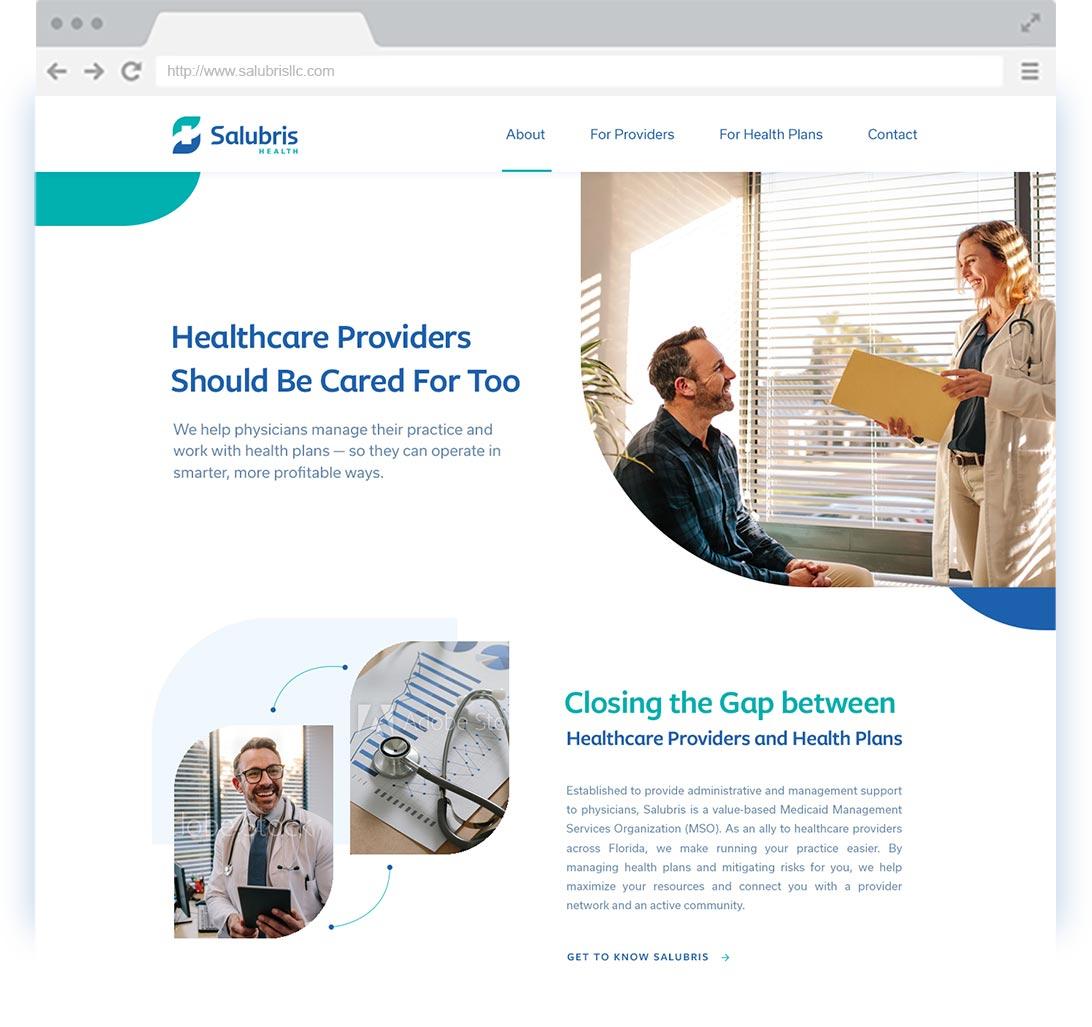 Salubris Website browser screen shot